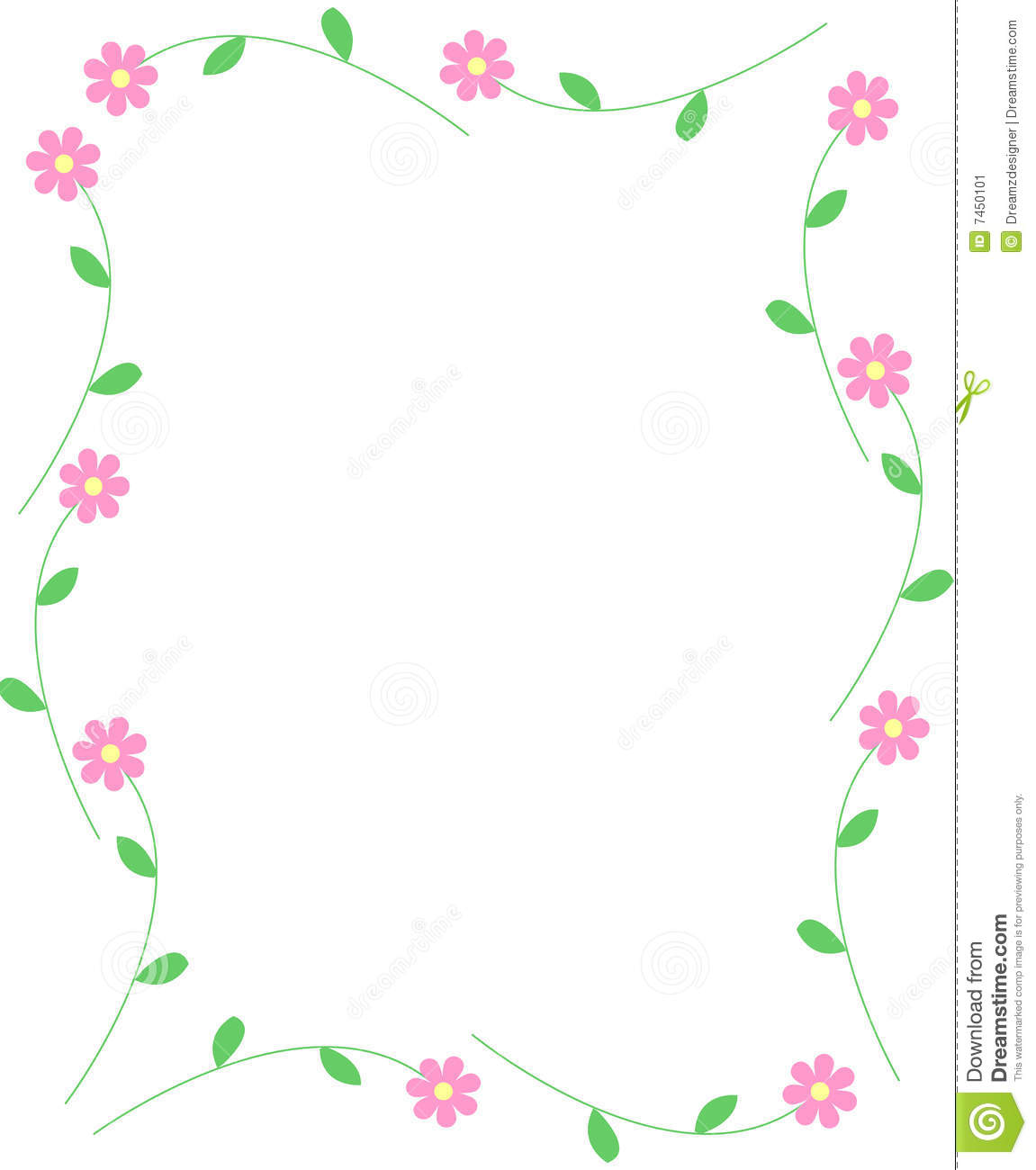 Spring Flowers Border Stock Image - Image: 7450101
