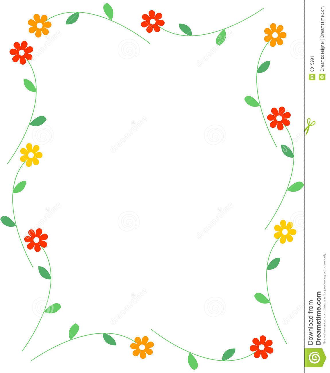 Spring Flowers Border Stock Image Image 8015981