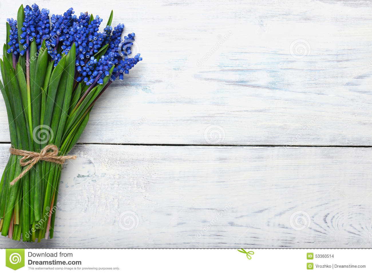 Spring flowers bouquet on wooden table top view copy space stock download comp mightylinksfo