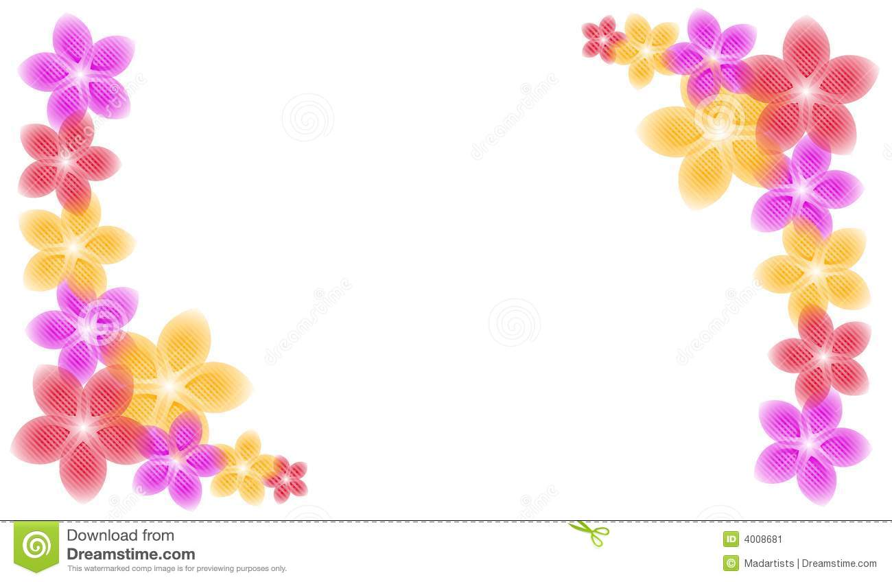 Spring Flowers Corner Piece Borders Stock Illustration