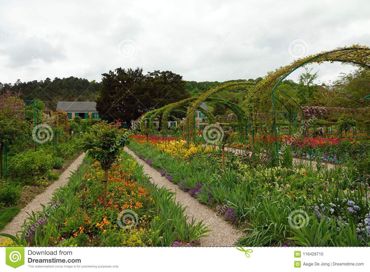 Spring In The Norman Garden Of Monet In Giverny Stock Photo Image