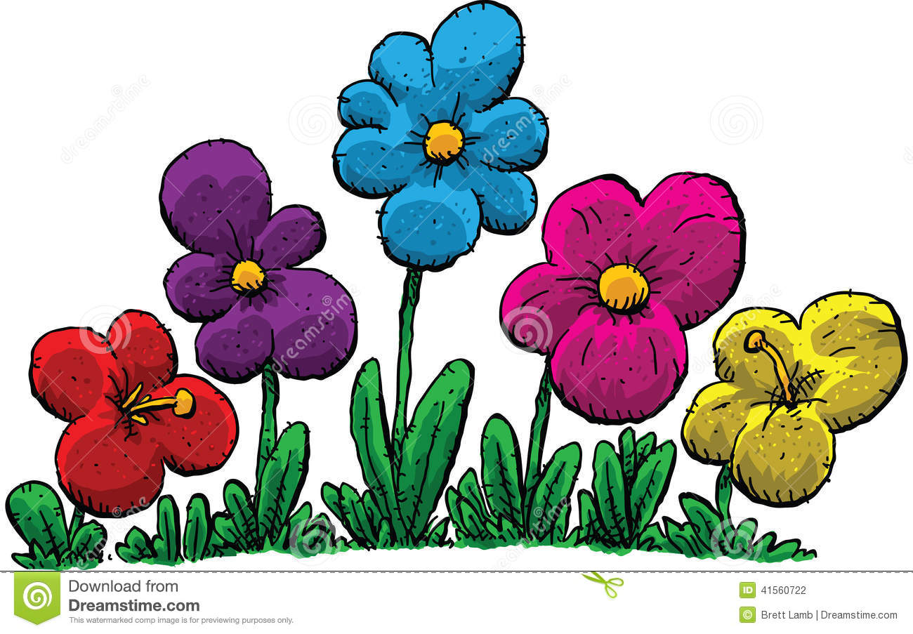 Spring Flowers Stock Illustration Illustration Of Flower 41560722