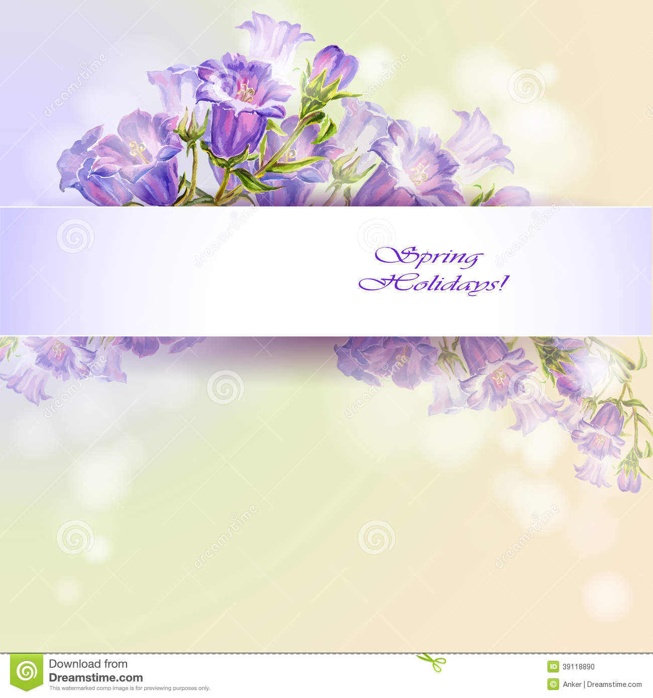 spring flowers invitation template card illustration 39118890 megapixl