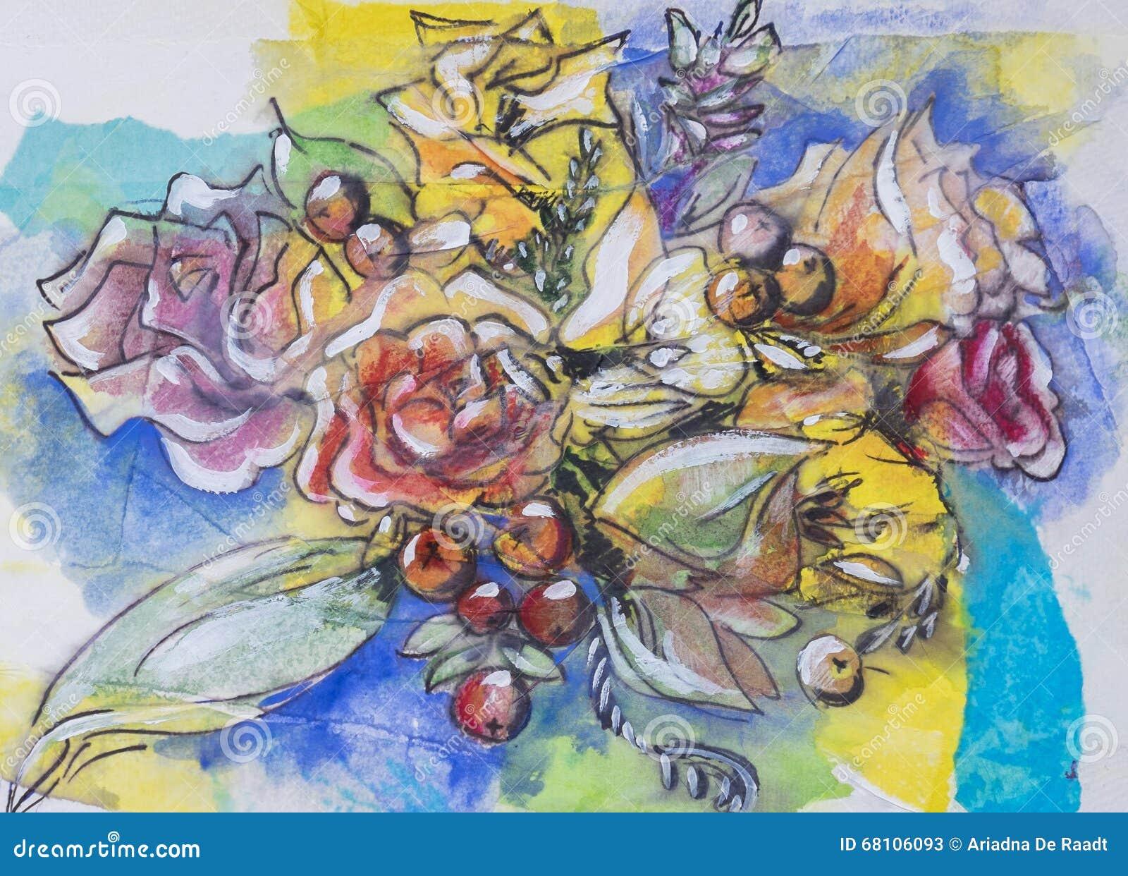 Spring Flowers Stock Illustration Illustration Of Typical 68106093