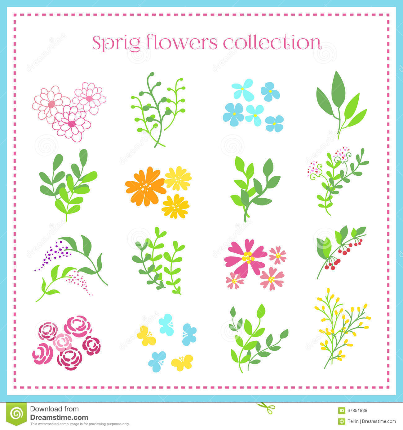 Spring flowers setctor illustration stock vector illustration download spring flowers setctor illustration stock vector illustration of foliage blue mightylinksfo