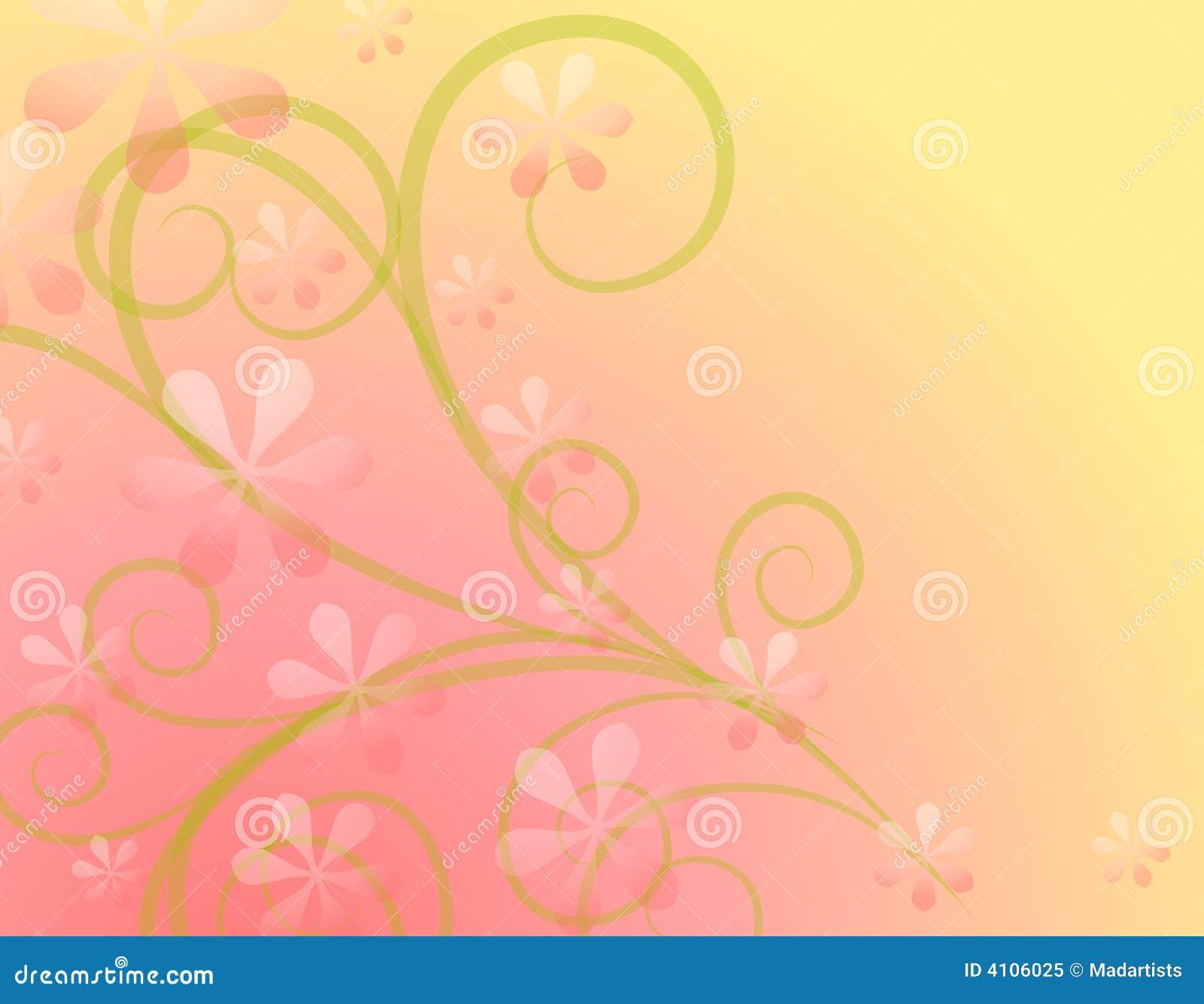 Spring Flowers Soft Pink Background Stock Illustration