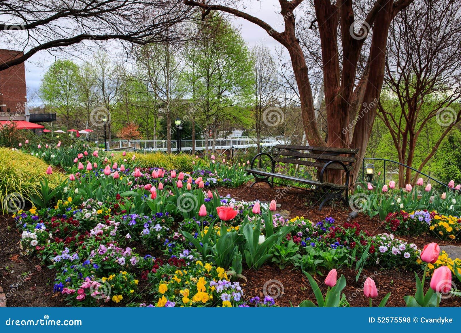 Spring Garden Falls Park Greenville Sc Stock Photo Image