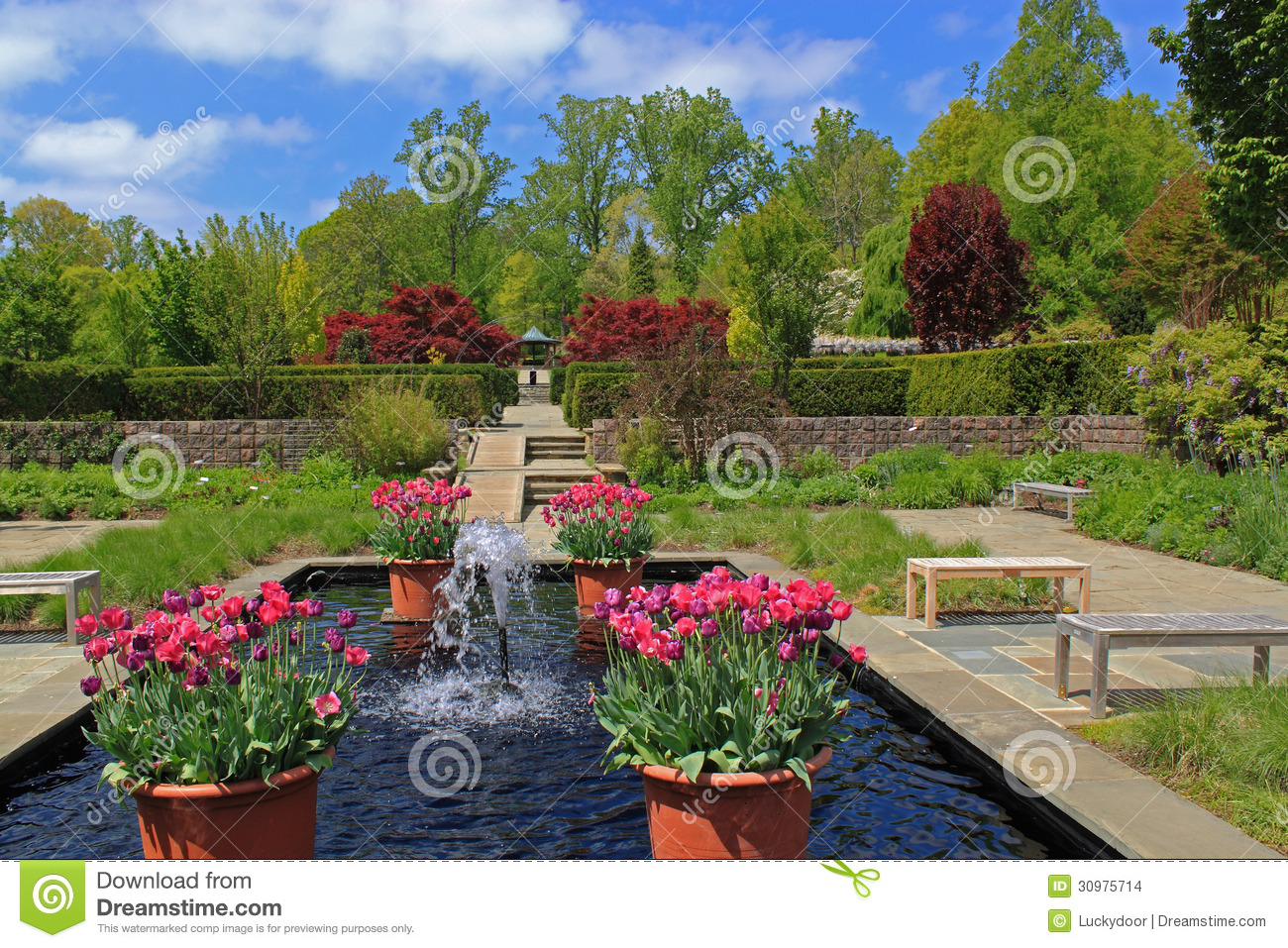 Formal Garden Stock Images Image 30975714