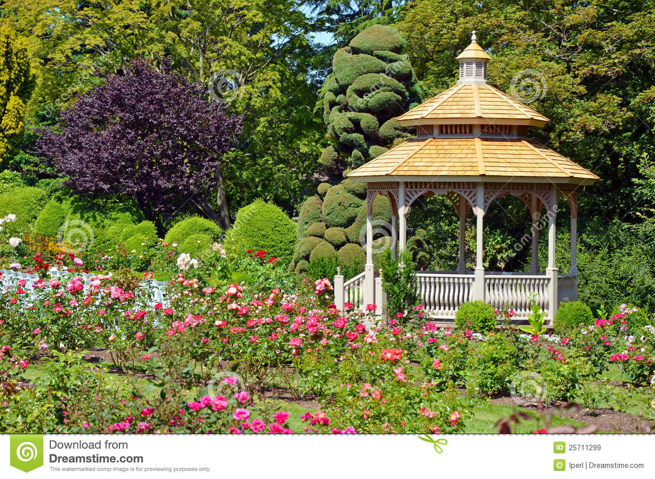 Spring Garden Gazebo Royalty Free Stock Images Image