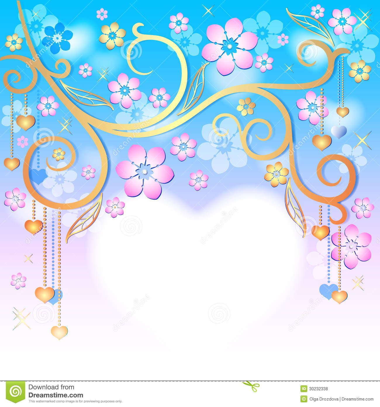 dced71b952b Spring pink easter frame stock vector. Illustration of colorful ...