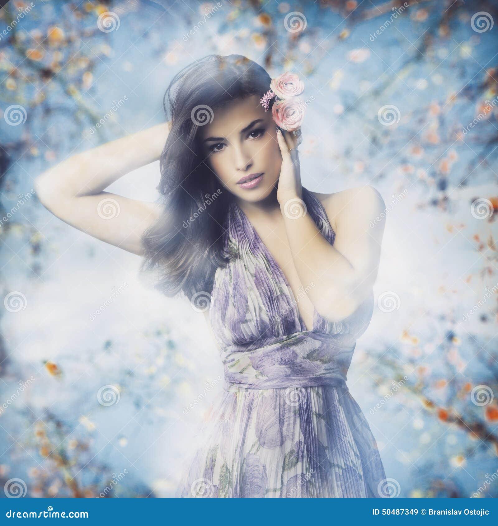 Classy And Glamorous Photo: Spring Girl Stock Image. Image Of Elegant, Nature, Female
