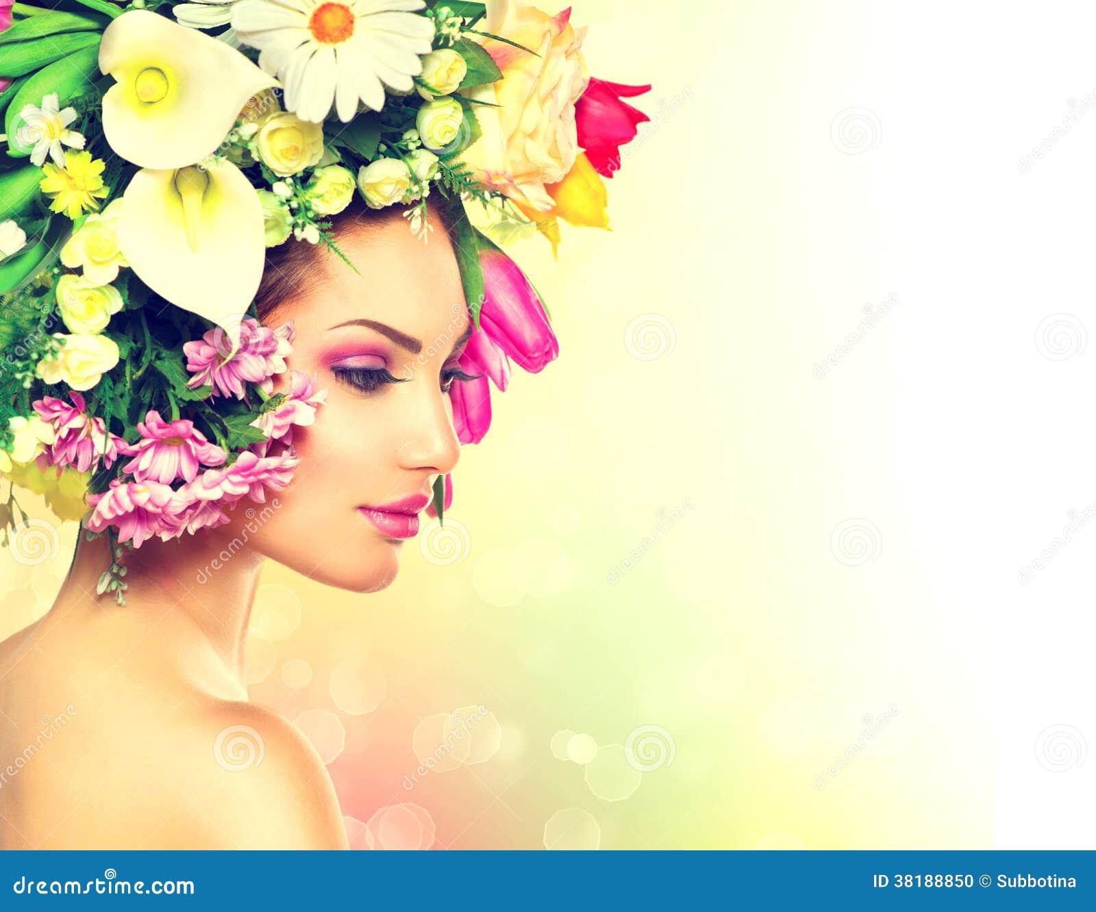 Весна девушка волосы