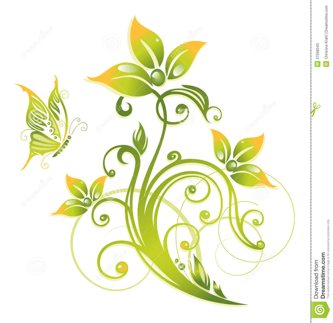 yellow butterfly background