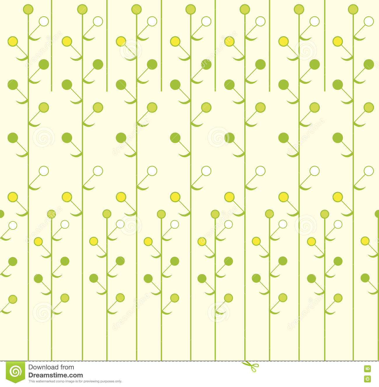 Spring Green Leaves And Flowers Background With Plants: Spring Green Leaves. Abstract Background. Floral