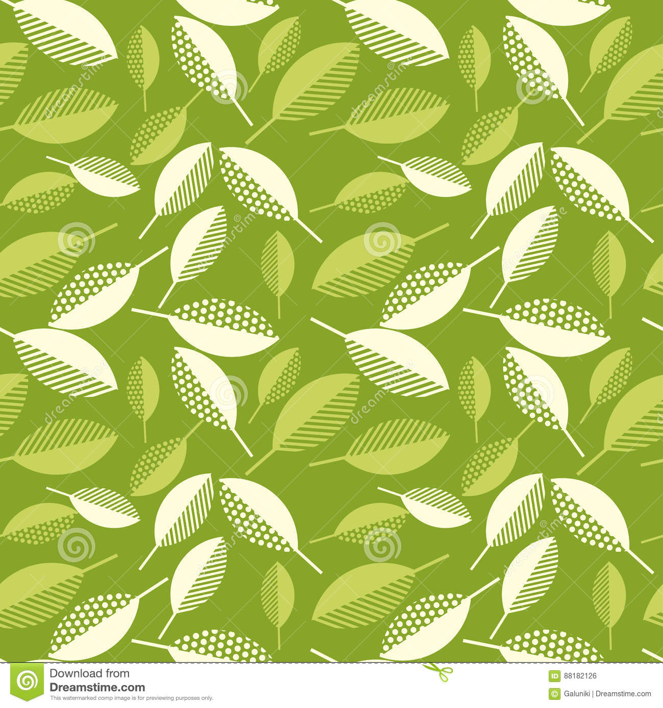 Spring Green Leaves Abstract Vector Illustration. Stock Vector ...