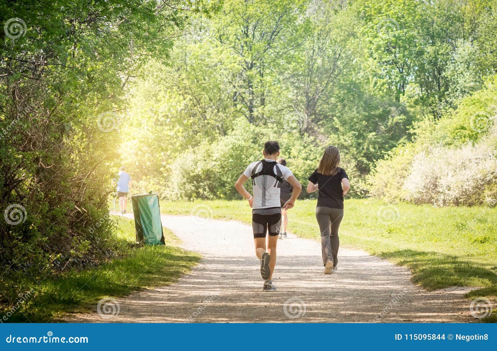 Spring jogging