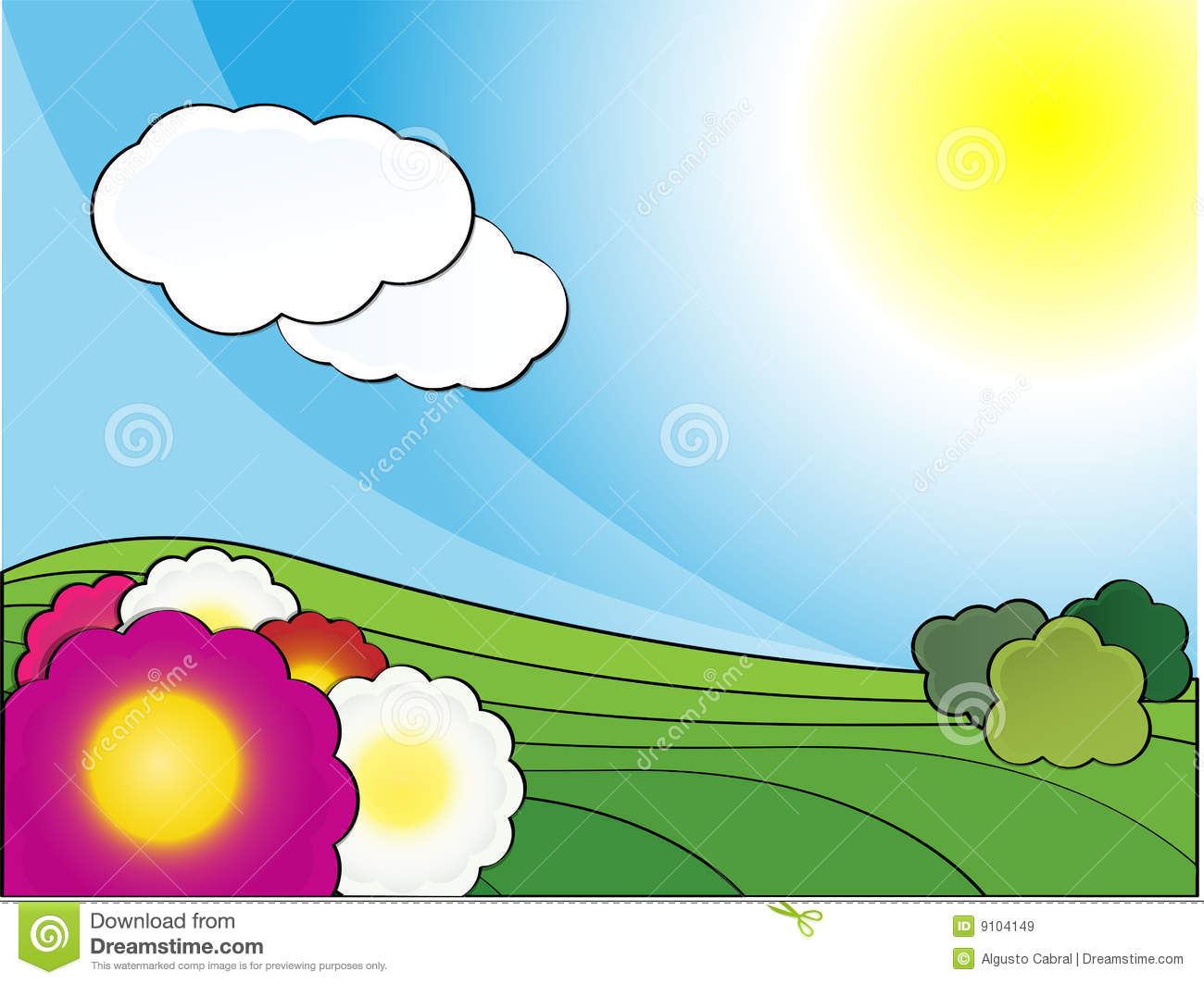 Spring Landscape Day Royalty Free Stock Images - Image: 9104149