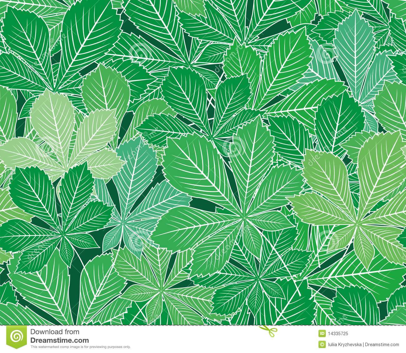 spring leaves seamless vector texture royalty free stock