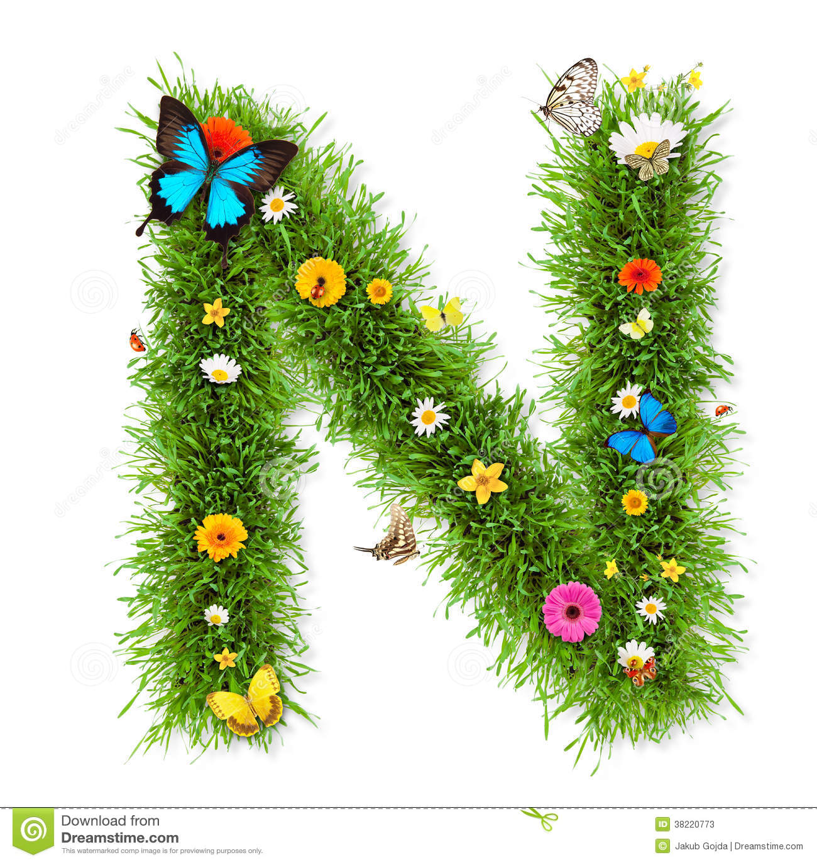 P Alphabet Wallpaper Stylish Font Spring Letter N Stock ...