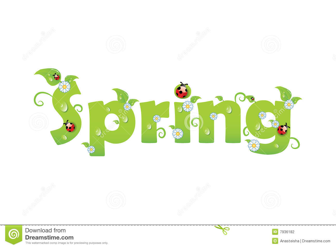 Spring Letters Stock Photography - Image: 7936182