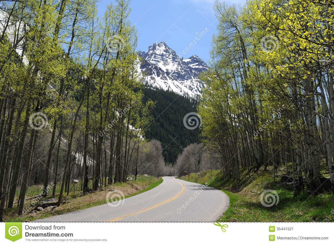 Spring Mountain Road stock image  Image of highway, tree