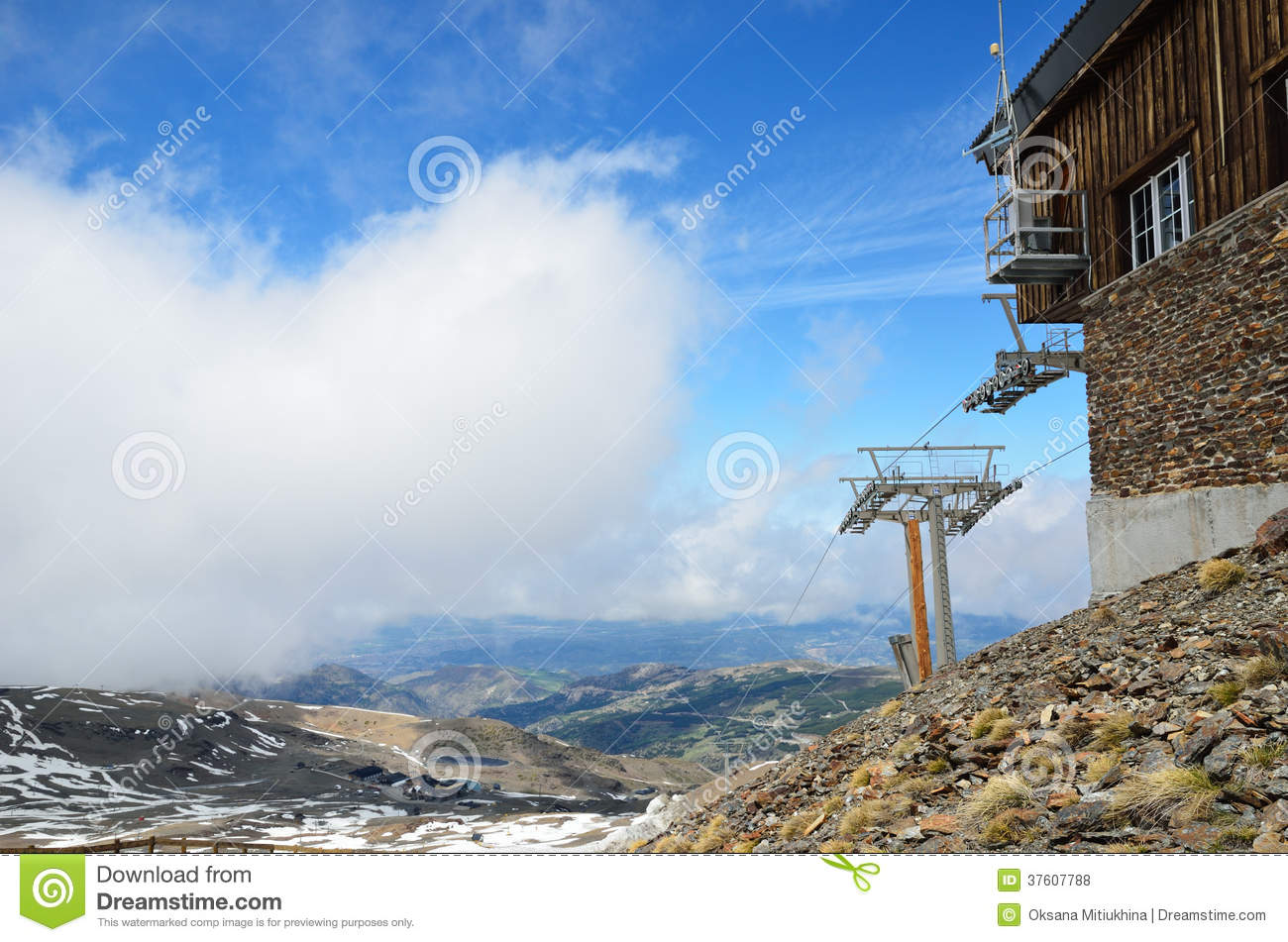 spring mountains in the andalusian sierra nevada stock photo - image