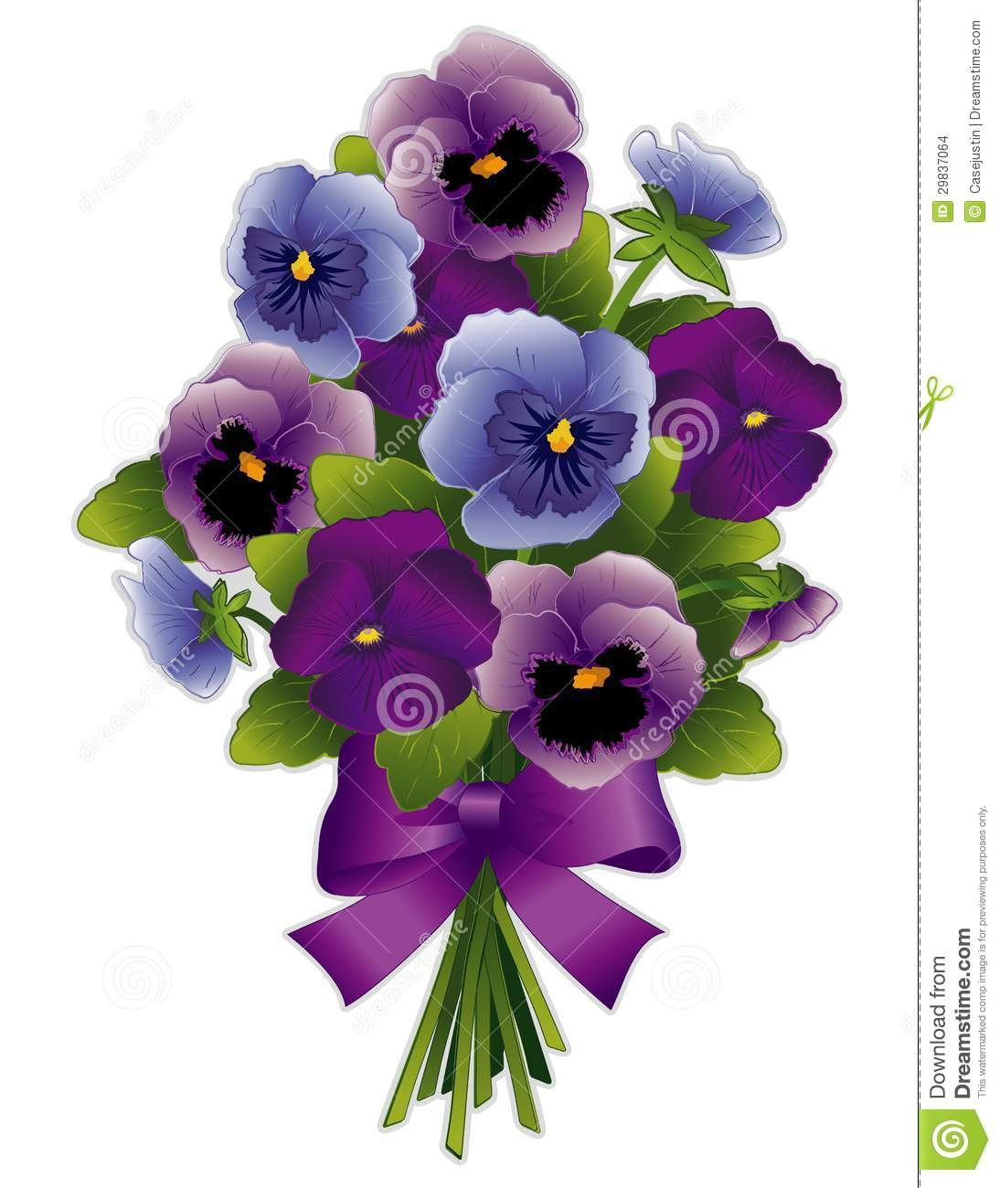 Pansy flower bouquet stock vector illustration of petal 29837064 pansy flower bouquet izmirmasajfo Images