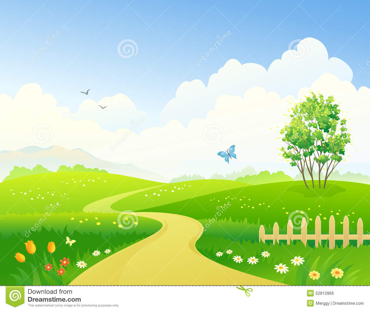 Spring pathway stock vector image 52812866 Pathway images