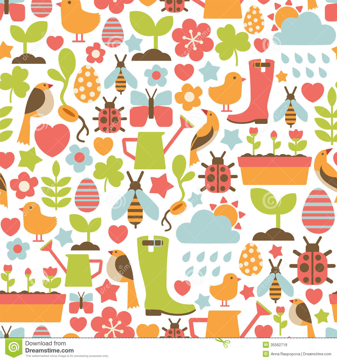 Spring Pattern Royalty Free Stock Images - Image: 35562719