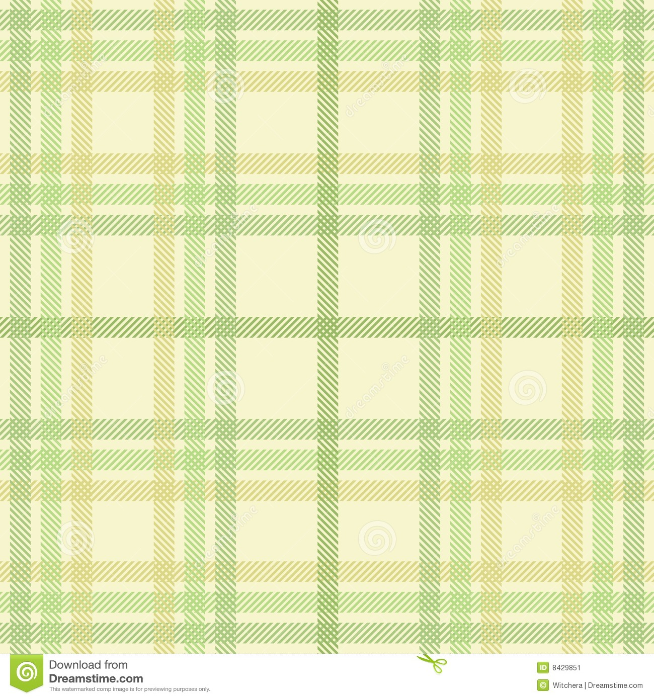 Spring plaid texture, vector pattern