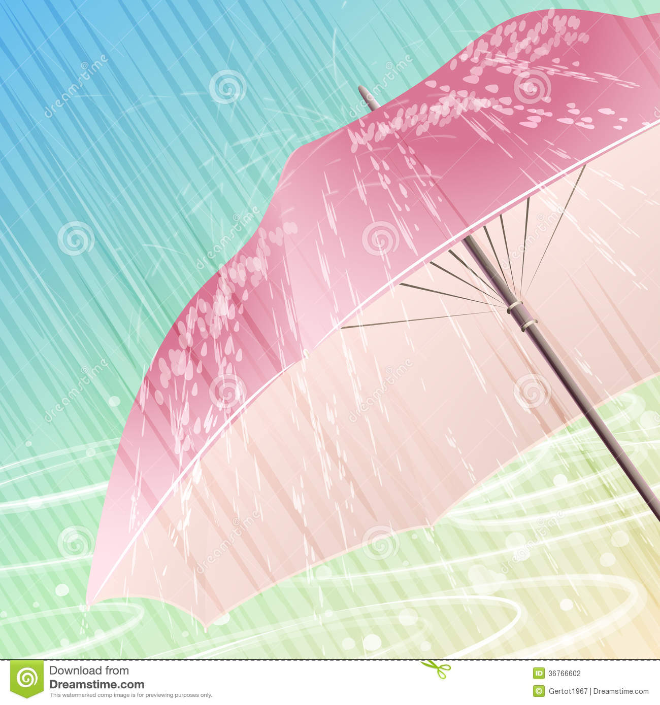 Stock Photography Spring Rain Illustration Open Umbrella Under Heavy Against Festive Light Background Image36766602 on Heavy And Light Objects Clipart