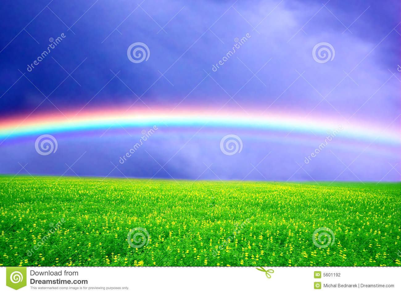 Stock Photography  Spring rainbow landscapeSpring Landscape Photography