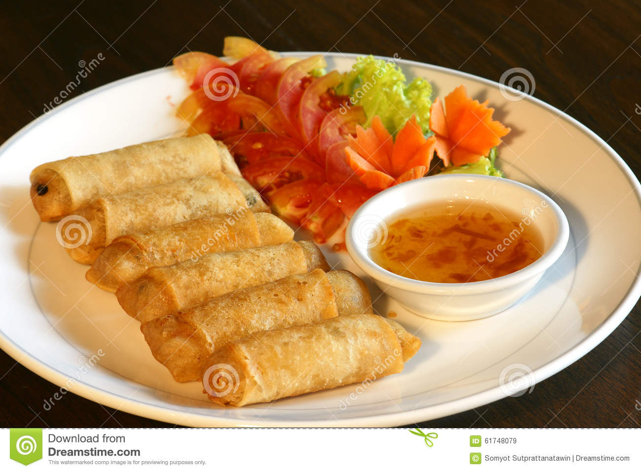 Spring Roll Food Set Stock Image Image Of Food Roll 61748079