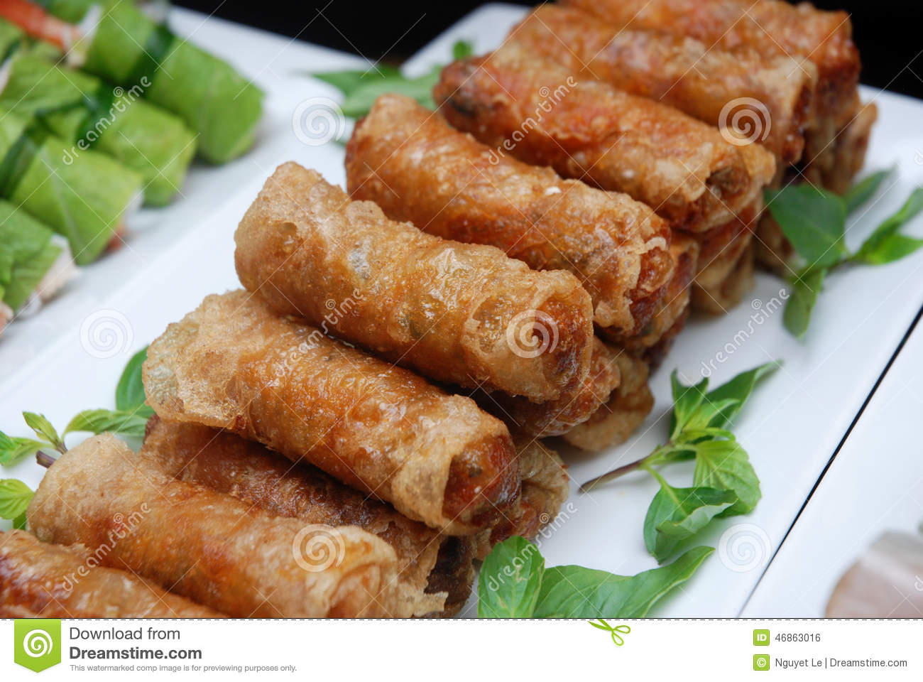 Spring Rolls (Cha Gio), Vietnamese Cuisine. Stock Photo ...