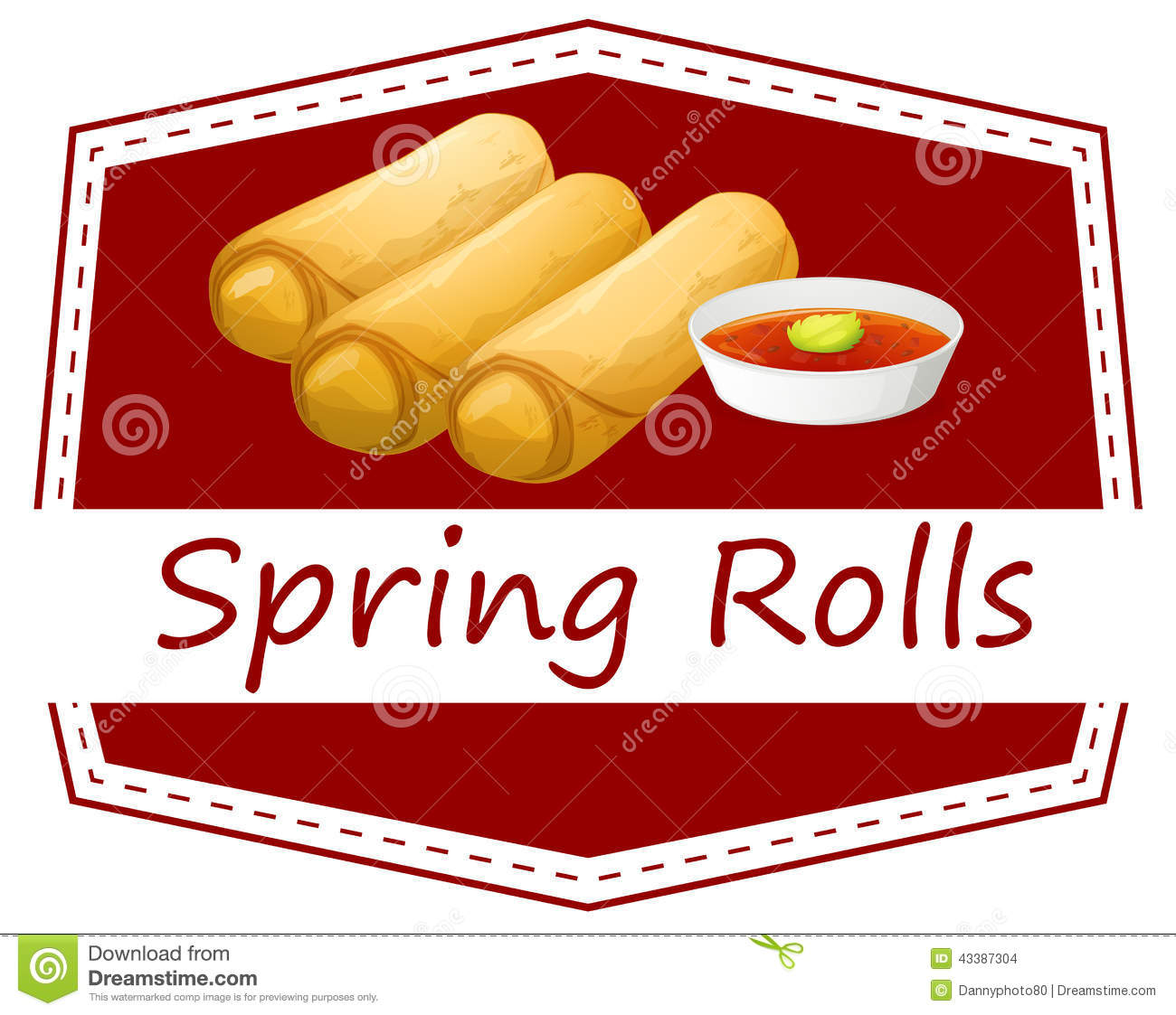 free clipart spring rolls - photo #2