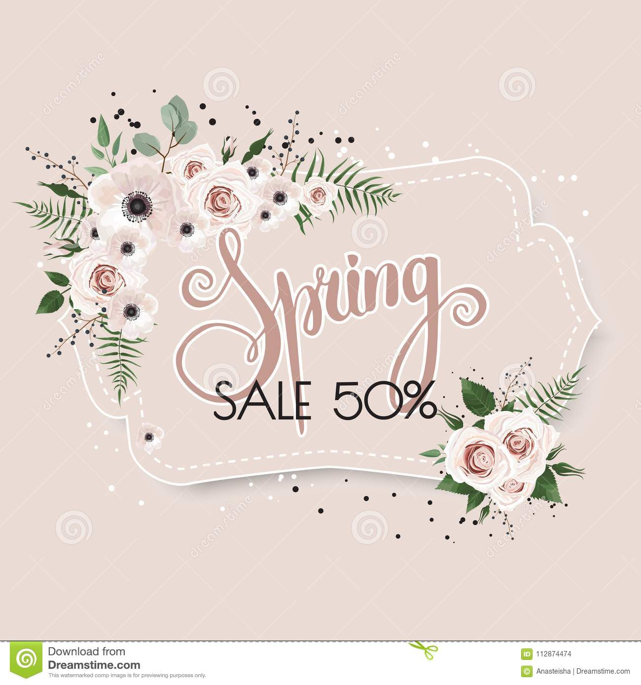 Spring sale background with beautiful flowers stock vector spring sale background with beautiful flowers izmirmasajfo