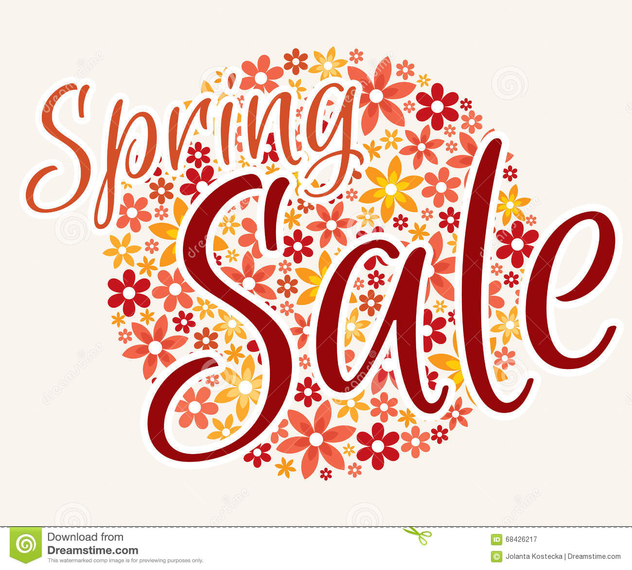 Spring Sale Banner And Price Tags Stock Illustration - Illustration ...