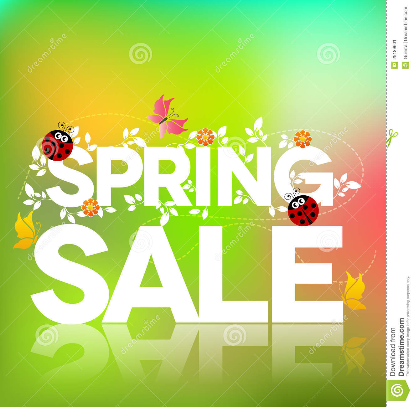 Spring Sale: Spring Sale Poster Stock Image