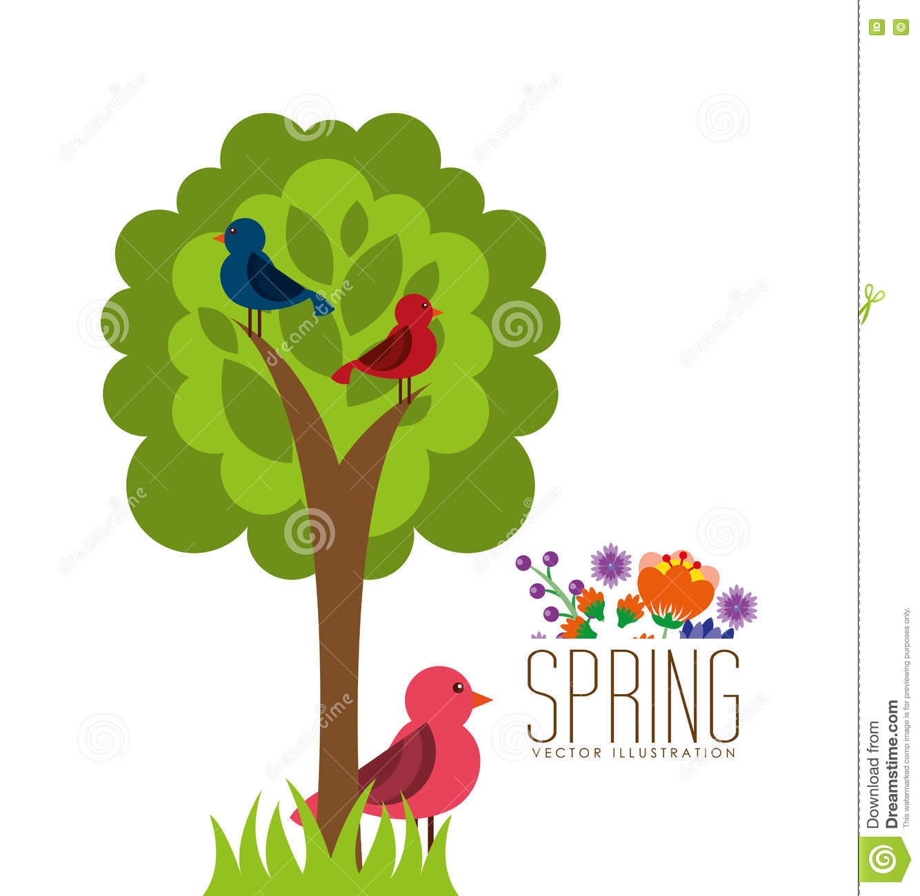 Spring Season Design Stock Illustration Illustration Of Decorative