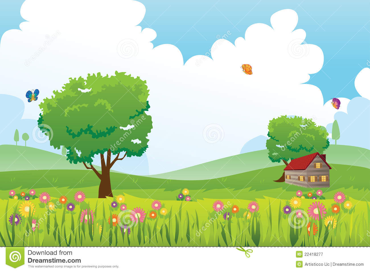 Spring Season Nature Landscape Royalty Free Stock Photography - Image ...