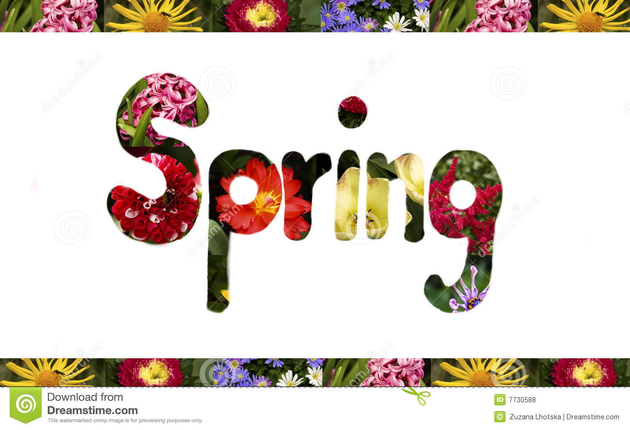 Spring Sign Royalty Free Stock Photos - Image: 7730588