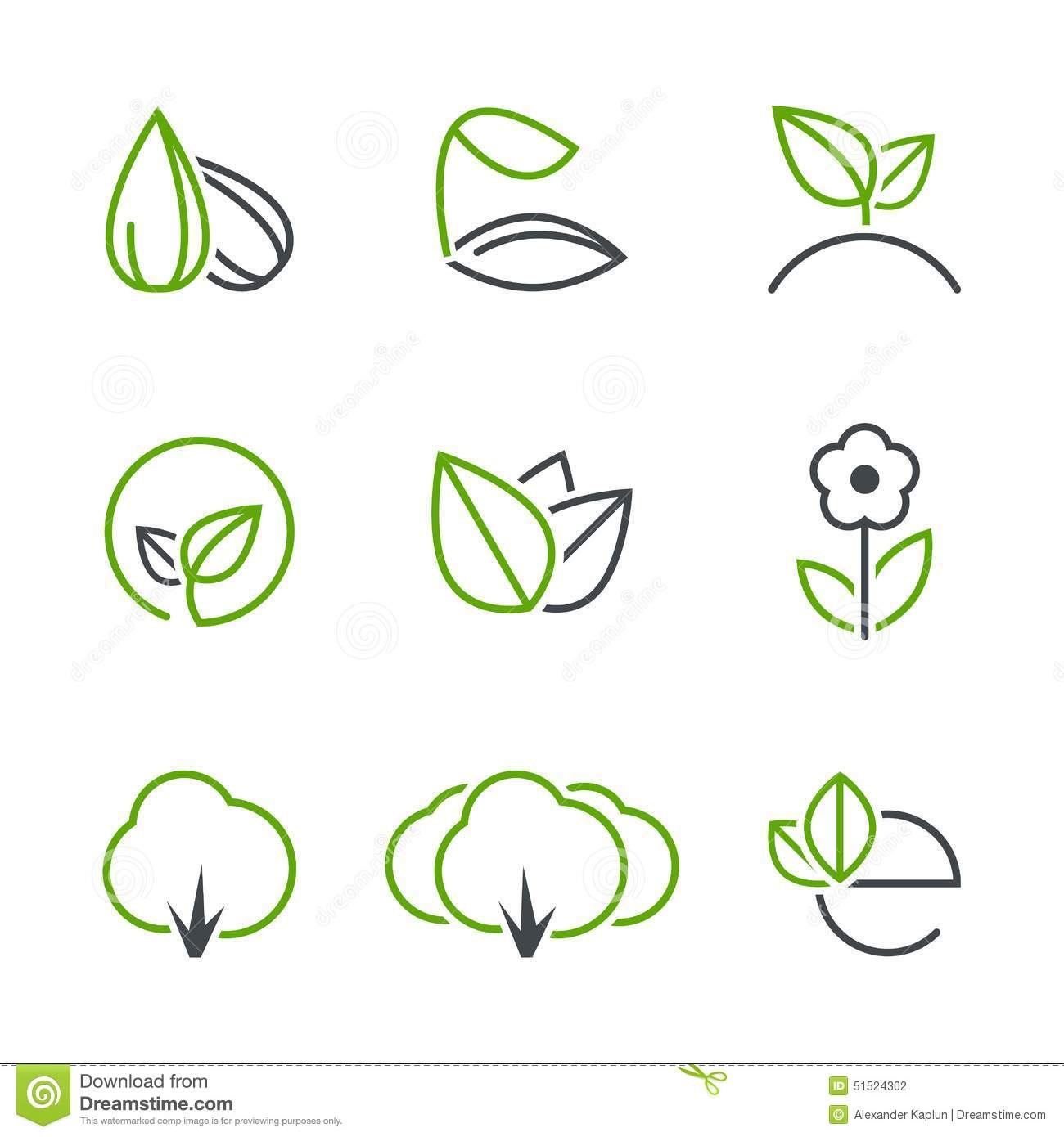 Spring Simple Vector Icon Set Stock Vector - Image: 51524302