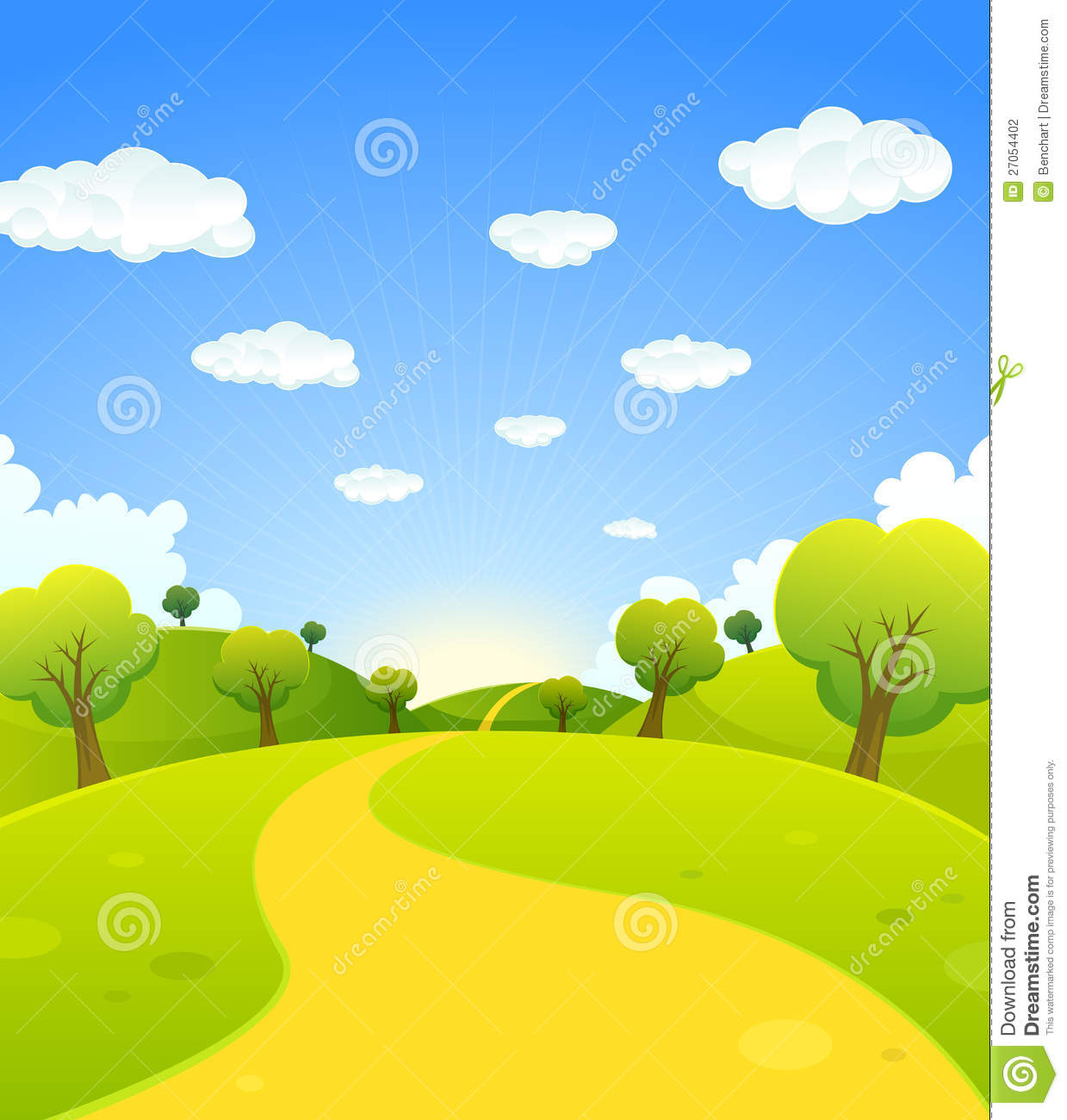 Top Landscape Summer - spring-summer-cartoon-landscape-27054402  Collection_877796.jpg