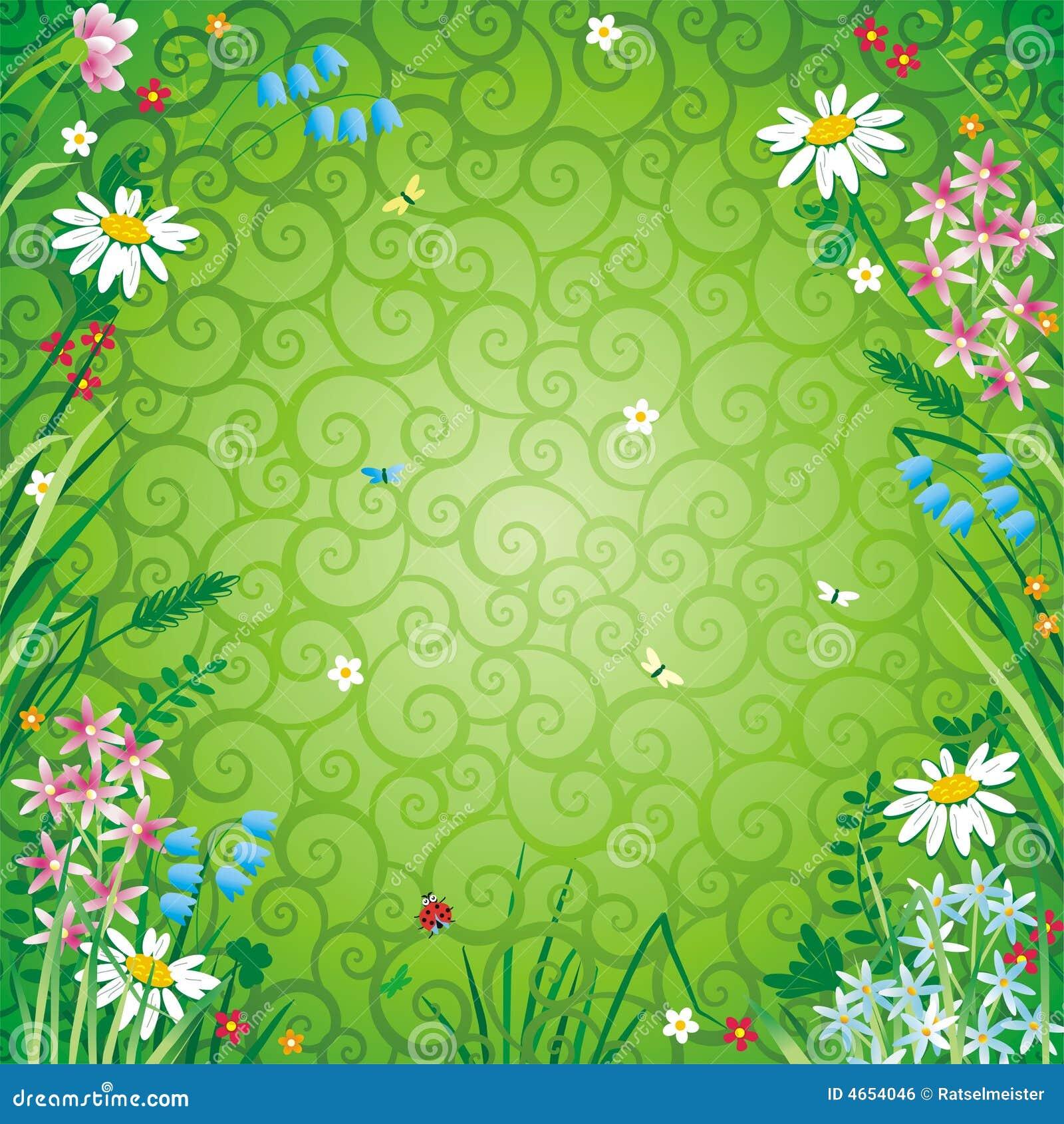 Spring or summer floral background