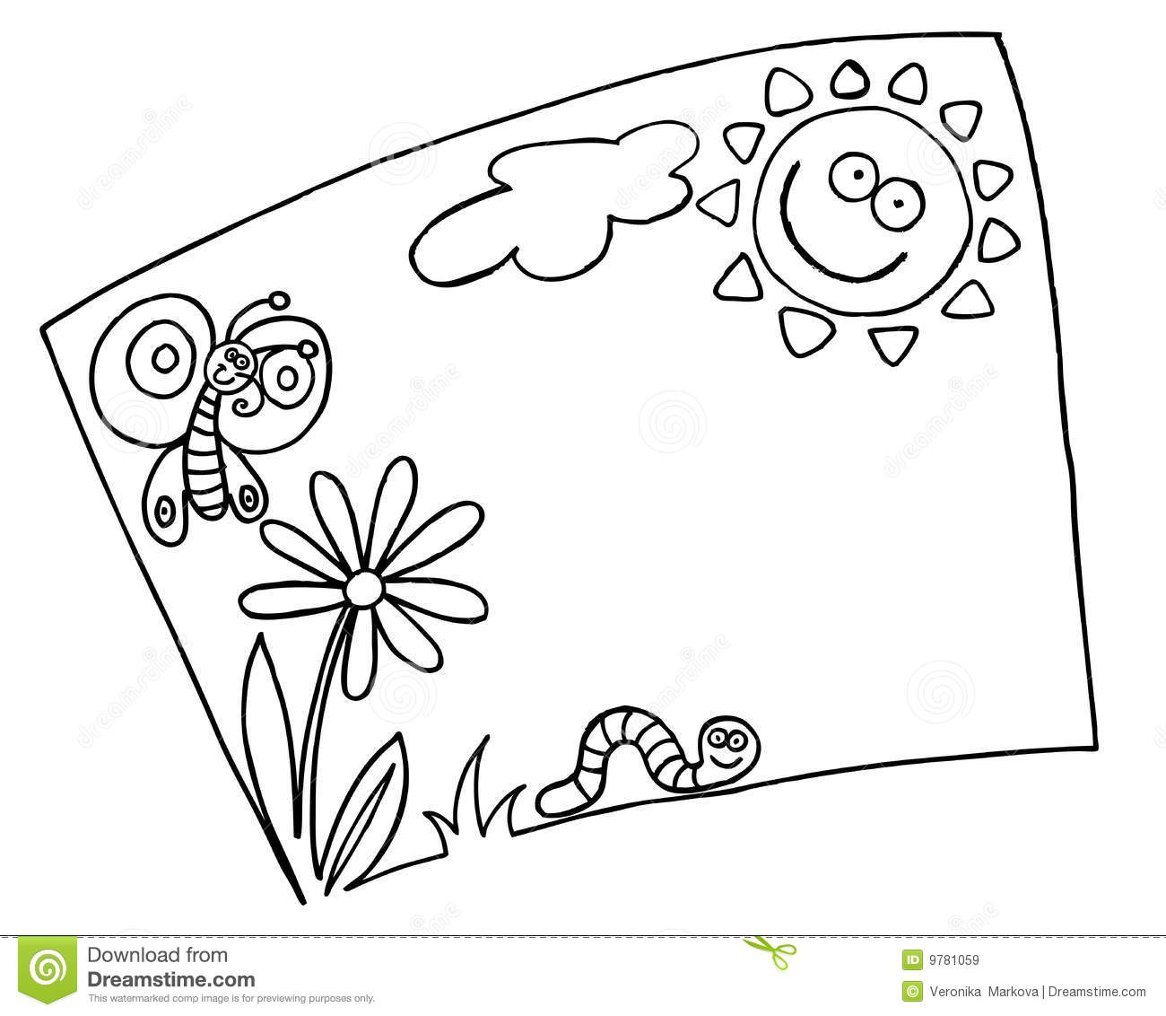 Spring summer frame stock vector. Illustration of summer - 9781059