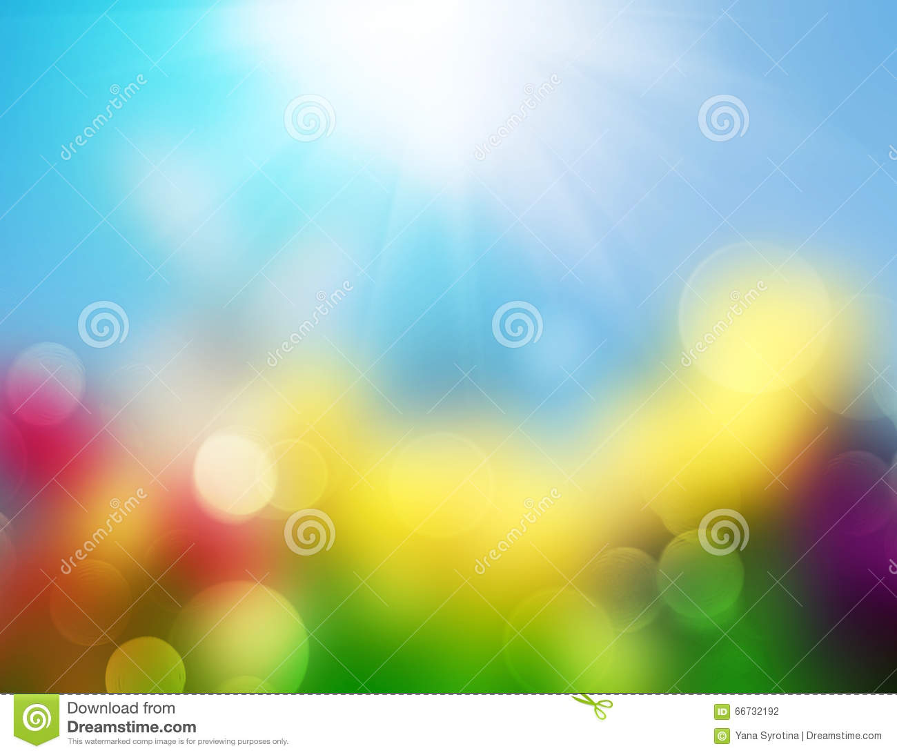Spring Summer Nature Background Easter Blur. Stock Photo