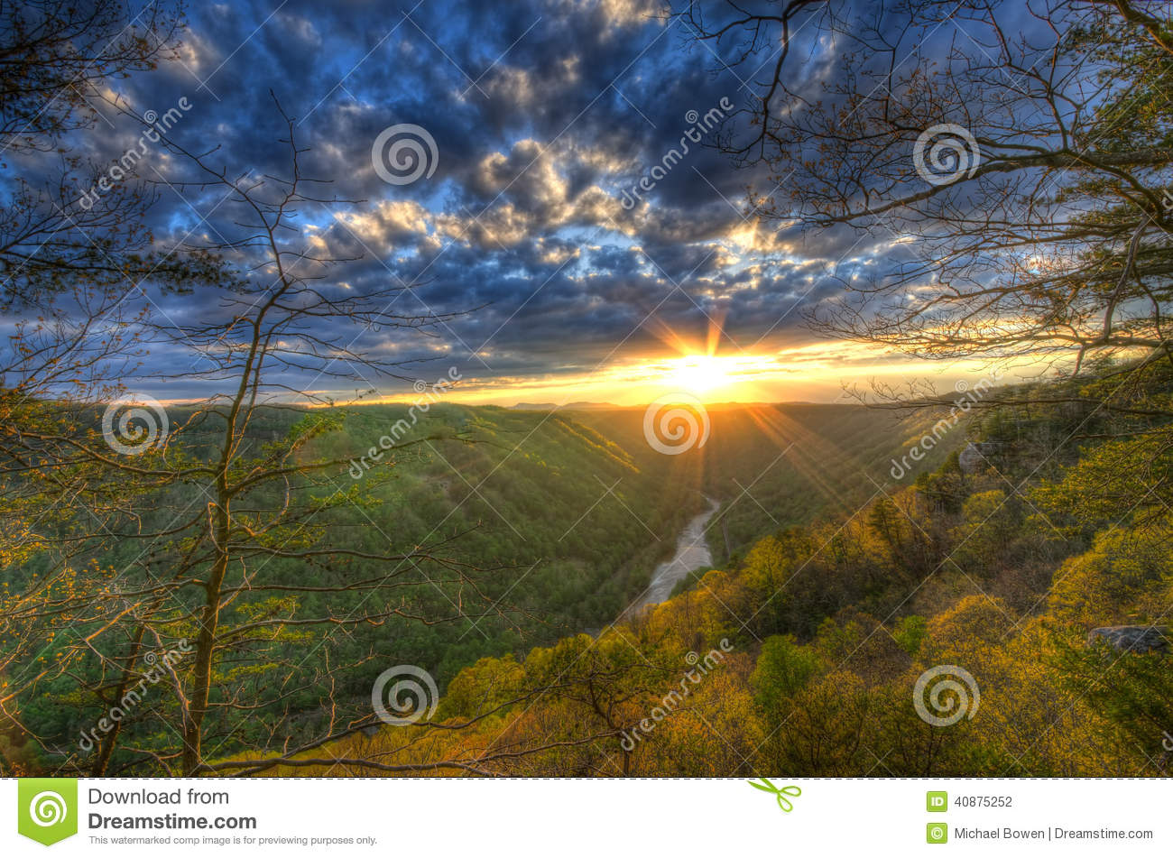 A Spring sunset on Beauty Mountain in West Virginia.