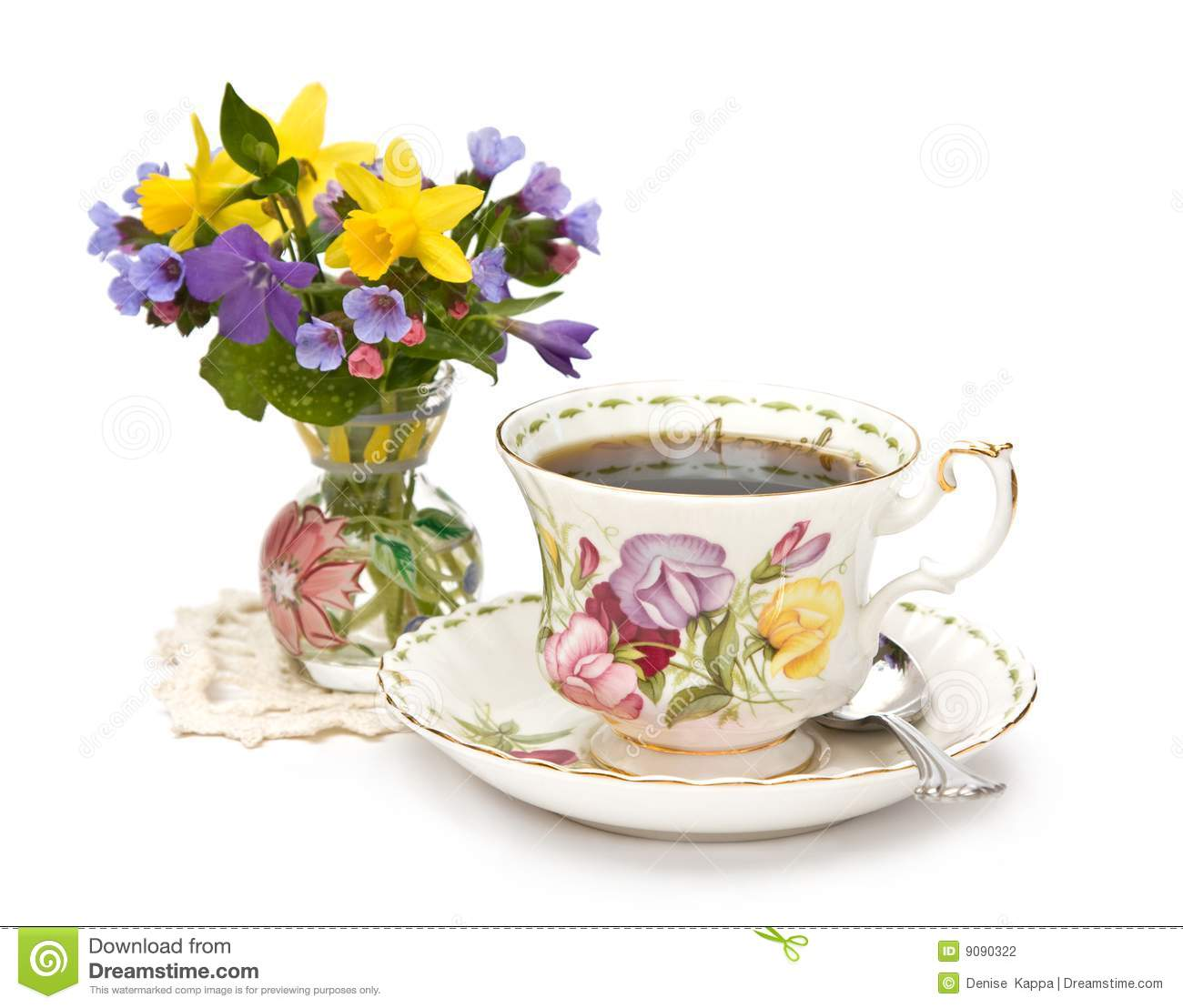 Spring Teacup And Flowers Stock Photography Image 9090322