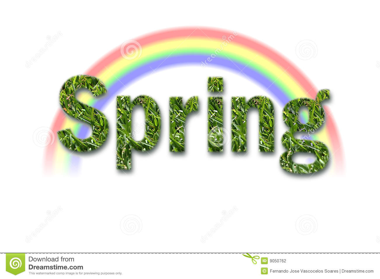 Spring Text With White Background Stock Photography