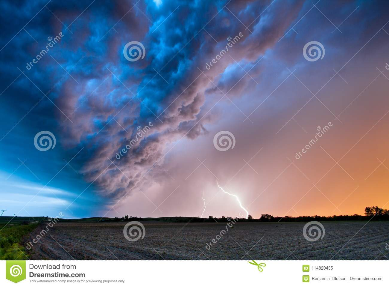 A Spring Thunderstorm at Sunset